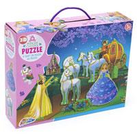 3D Princess Carriage Puzzle 45 Pieces
