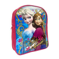 Official Frozen Elsa And Anna Backpack Pink