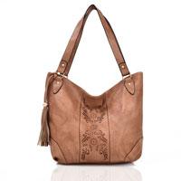 Miai Double Tassel Shopper Bag Beige