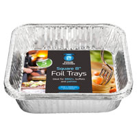 Square Foil Tray 8 Inch 5 Pack