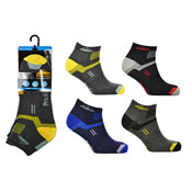 Mens ProHike Trainer Sock Block Stripes