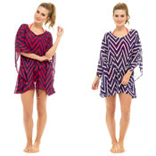 Ladies Striped Chiffon Kaftan