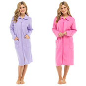Ladies Polar Fleece Zip Through Robe