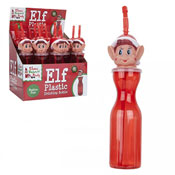 Reusable Red Plastic Bottle With Elf Head