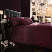 5 Piece Bed in a Bag Set Diamante Aubergine