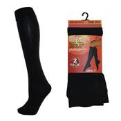 Ladies Thermal Knee High Socks 2 Pack
