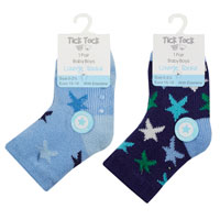 Baby Boys 1 Pair Lounge Socks With Grippers