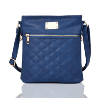 Maggie Quilted Cross Body Bag Blue