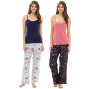 Ladies Viscose Rose & Butterfly Low Pj Set