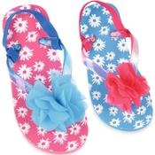 Girls Ditsy Floral Print Flip Flops