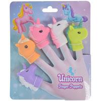 Unicorn Finger Puppets 5 Pack