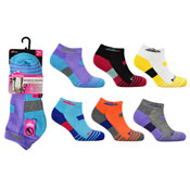Ladies ProHike Cushioned Sole Trainer Socks Multi Coloured
