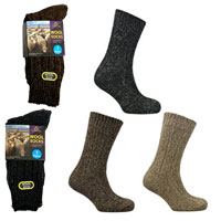 Mens Chunky Wool Blend Socks