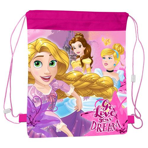 Official Disney Princess Go Live Your Dream Pull String Bag