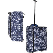 Super Lightweight Navy Flower Cabin Travel Bag