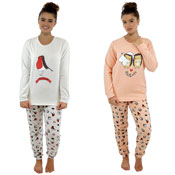 Ladies Animal Design Twosie Pyjama Set