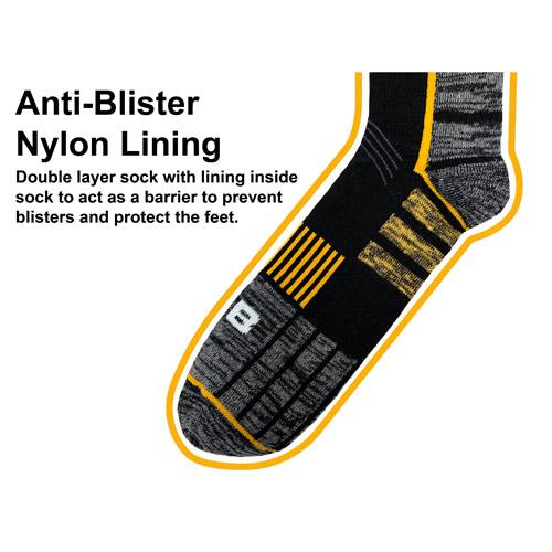 JCB 1 Pair Mens Pro Anti-Blister Work Sock 6-8.5