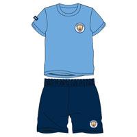 Boys Official Manchester City Shortie Pyjamas