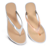 Ladies Rose Gold And Silver Metallic Sandal