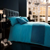 5 Piece Bed in a Bag Set Diamante Teal