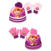 Paw Patrol Childrens Bobble Hat & Gloves Set