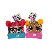 Official Girls LOL Surprise Knitted Bobble Hat With Pom Pom