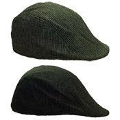 Mens Lightweight Flat Cap Black Lining