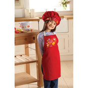 Cooksmart Kids 'Licking the Bowl' Apron and Chef Hat Set
