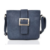Ladies Janella Square Buckle Crossbody Bag Blue