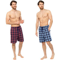 Mens 2 Pack Checked Shorts