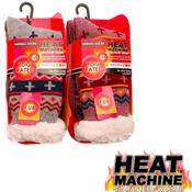 Ladies Heat Machine Marl Thermal Socks
