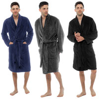 Mens Coral Fleece Gown