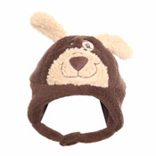 Baby Furry Bear Hat with Chin Strap