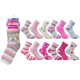 Ladies 3 Pack Co-Zees Cozy Winter Sock Pastel