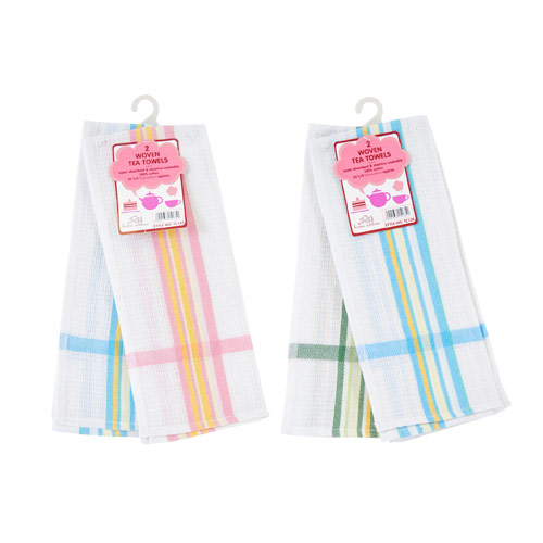 Woven Tea Towel with Stripes