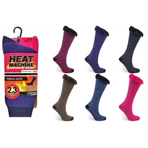 Ladies Heat Machine Thermal Socks Twisted Yarn
