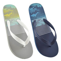 Mens Narrow Striped Flip Flops