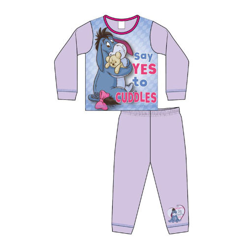 Girls Toddler Official Eeyore Cuddles Pyjamas