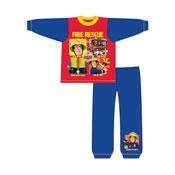 Boys Toddler Fireman Sam Rescue Snuggle Fit Pyjama