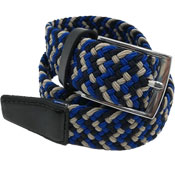 Stretchy Belts Blue/Beige