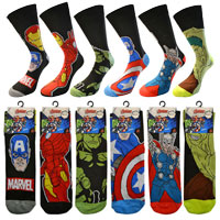 Mens Official Avengers Character Socks