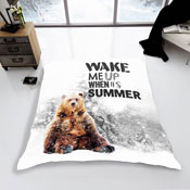 Mink Faux Fur Throw Winter Bear