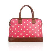 Polka Dot Design Handheld Handbag Fuchsia