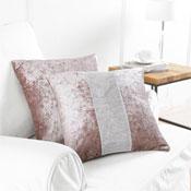 2 Blush Diamante Cushion Covers