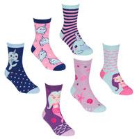 Girls 3 Pack Mermaid - Whale Design Socks