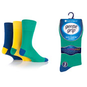Mens Gentle Grip Socks Colourburst Leisure