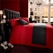 5 Piece Bed in a Bag Set Diamante Red
