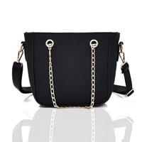 Sally Chain Strap Crossbody Bag Black