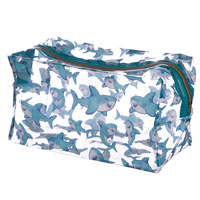 Shark Cafe Clear Toiletry Bag