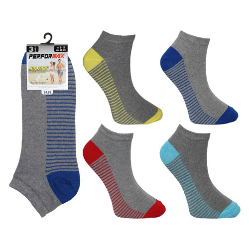 Mens Performax Trainer Socks Heel Stripes